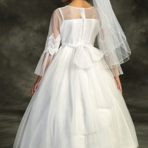 Beautiful First Communion Dress with Sleeves