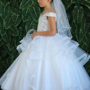 Beautiful Kids Ball Gown First Communion Dress