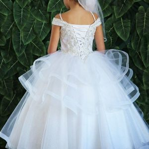 Beautiful Kids Ball Gown First Communion Dress New 2020