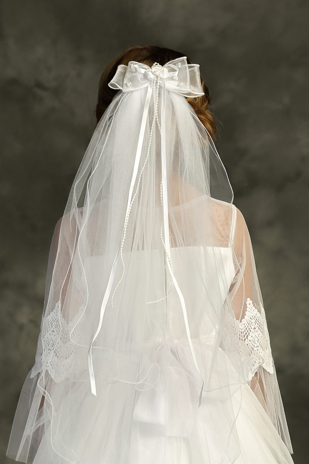 Bow Comb First Communion Veil