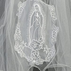 Catholic First Communion Veil with Our Lady of Guadalupe