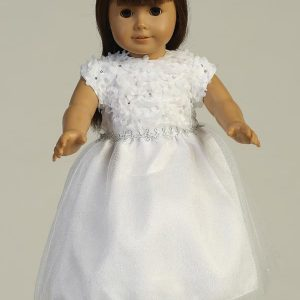 Chiffon First Communion Doll Dress with Tulle