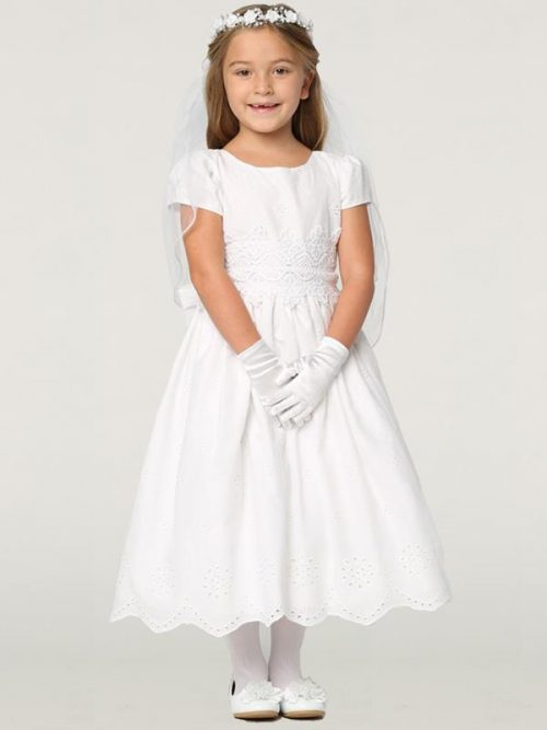 New Cotton Eyelet First Communion Dress for 2020