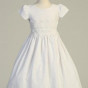 Cotton Eyelet First Communion Dress