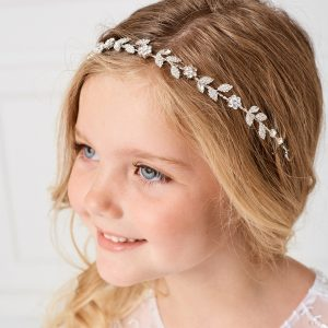 Delicate Leaves First Communion Hairband Hairpiece