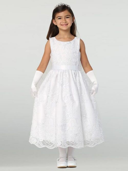 Embroidered Tulle First Communion Dress