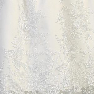 Embroidered Tulle First Communion Dress Close
