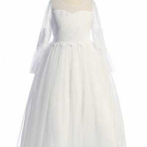 Modest First Communion Dresses with Sleeves