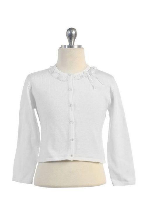 First Communion Cardigan Sweater