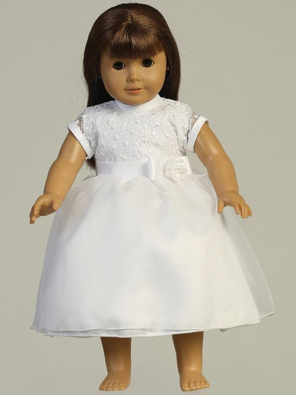 Embroidered and Tulle First Communion Doll Dress