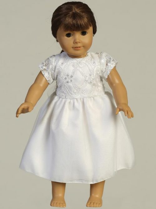 Embroidered tulle First Communion Doll Dress