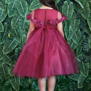 First Communion Dress with Attached Cape Back