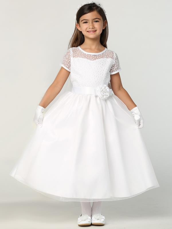 First Communion Dress with Embroidered Bodice New 2020