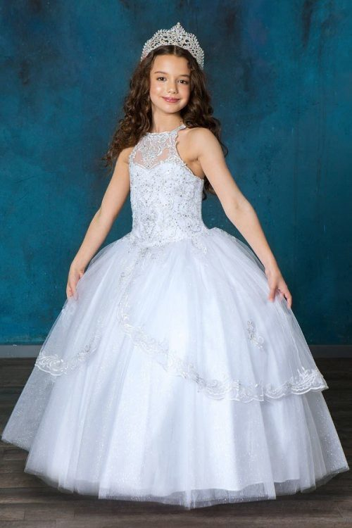 Halter Bodice First Communion Ball Gown