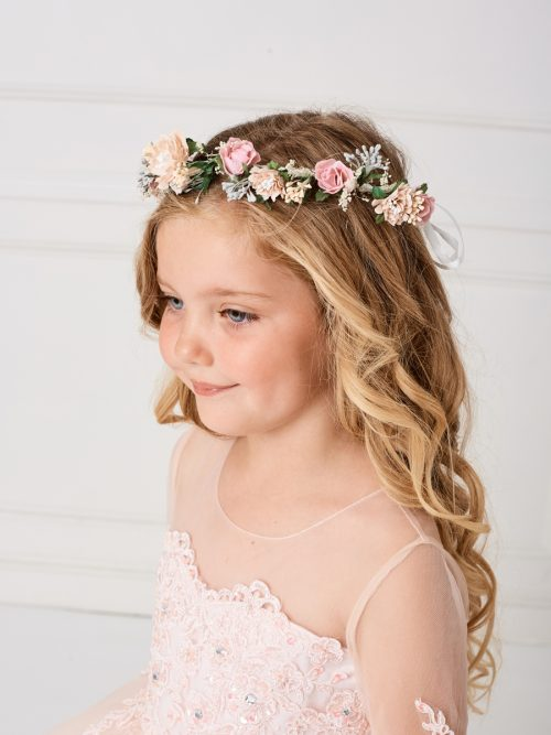 First Communion Floral Crown Headpiece