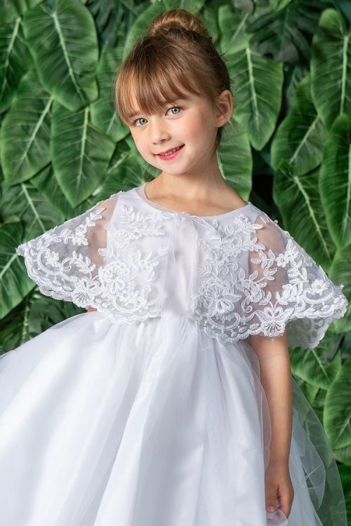 First Communion Organza Lace Cape