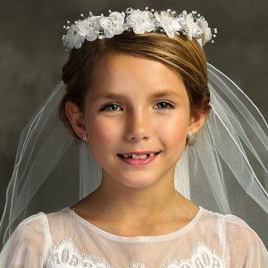 First Communion Veil Flower Crown