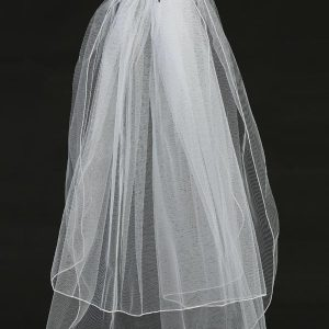 First Communion Veil on Comb Organza Flowers