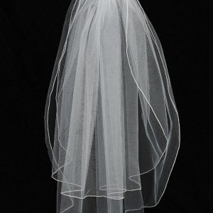 First Holy Communion Comb Veil with Pearls and Crystals