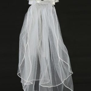 First Holy Communion Wreath Veil Crystals and Bows