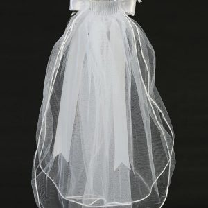First Holy Communion Wreath Veil with Pearls and Rhinestones