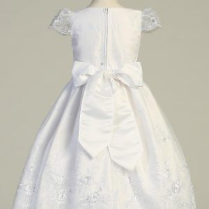 New Organza First Communion Dress with Cap Sleeves