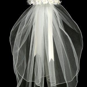 Flower Crown First Communion Veil