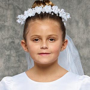 Flower Pearl First Communion Veil