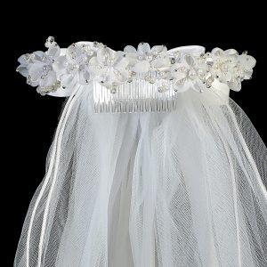 Flower Pearl Girls First Communion Veil
