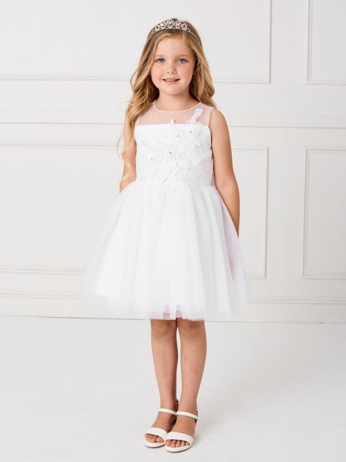 Girls Short Length First Communion Dress