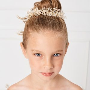 Gold Spray First Communion Bunwrap