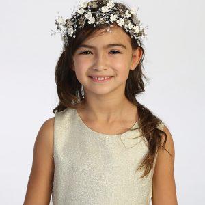 Ivory FIrst Communion Flower Hairband-150