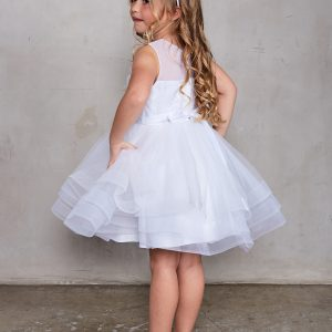 Knee Length Lace First Communion Dress