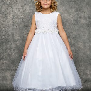 Lace Glitter Tulle First Communion Dress