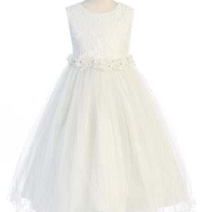 Lace Glitter Tulle First Communion Dresses