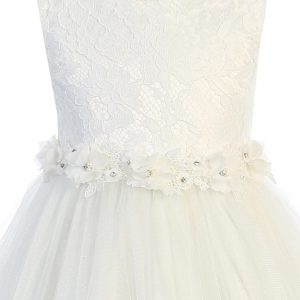 Lace Tulle Bodice First Communion Dress