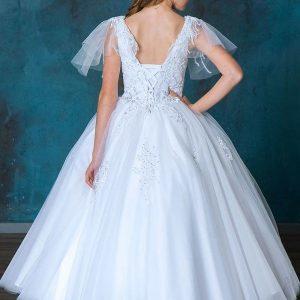 Long Length-FIrst-Communion-Dress-with-Flutter-Sleeve