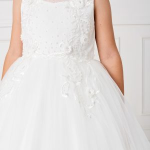 Modern Ankle Length Lace Mesh First Holy Communion Dress for 2020