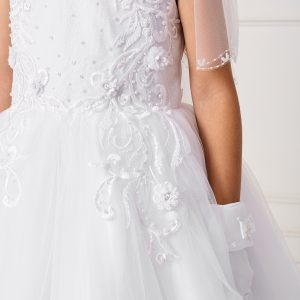 Modern Ankle Length Lace Mesh New First Communion Dress for 2020