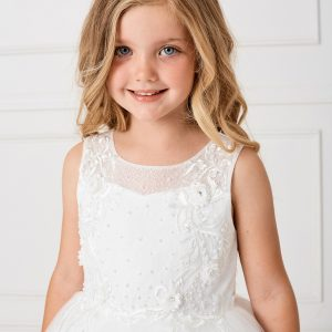 Modern Ankle Length Lace Mesh Top First Communion Dress for 2020