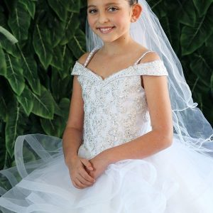 Modern Kids Ball Gown First Holy Communion Dress