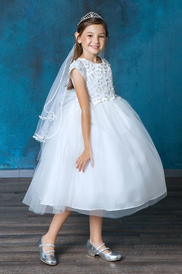 New First Communion Dress Flower and Pearl Top for 2020