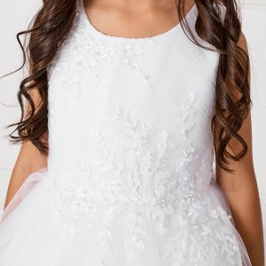 New Style Ankle Length Lace Mesh First Holy Communion Dress