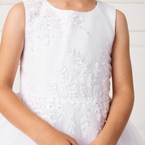 New Style Ankle Length Lace Mesh Girls First Communion Dress