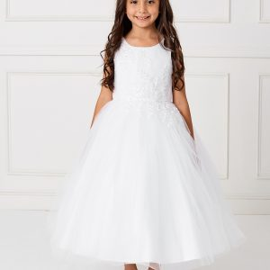 New Style Ankle Length Lace Mesh Pretty First Communion Dress
