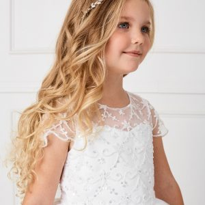 New Style Beaded Tulle First Holy Communion Dress