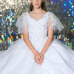 New Style-FIrst-Communion-Dress-with-Flutter-Sleeve