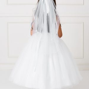 New Style Tea Length Lace Mesh First Communion Dress