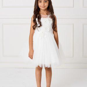 Pretty Girls Short Length First Communion Dress