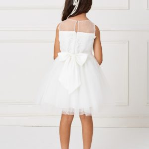 Short Lace and Tulle First Communion Dress
